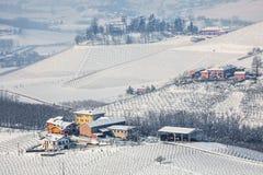 Opinión del campo del invierno en Italia Fotos de archivo libres de regalías