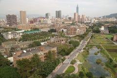 Opinión del campus universitario de Taiwán Foto de archivo