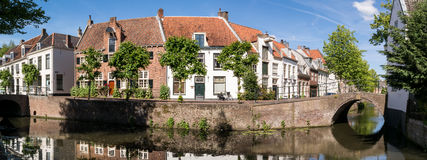 Opinión del canal de la ciudad de Amersfoort, Países Bajos Fotografía de archivo libre de regalías