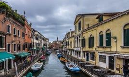 Opinión del canal de Venecia Foto de archivo libre de regalías