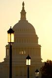 Opinión del capitolio de la alameda nacional Imagen de archivo libre de regalías
