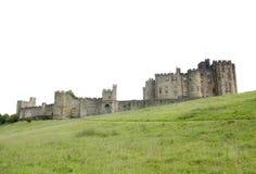 Opinión del castillo de Alnwick de la base de la colina 2 foto de archivo libre de regalías