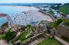Opinión del castillo de Gorey Imagenes de archivo