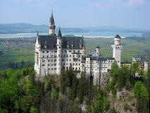 Opinión del castillo de Neuschwanstein Imagen de archivo