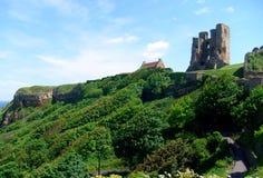 Opinión del castillo de Scarborough foto de archivo libre de regalías