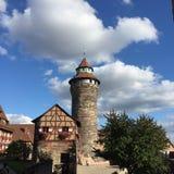 Opinión del castillo del nurnburg Imagen de archivo