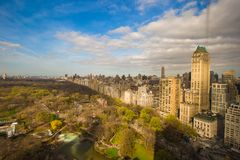 Opinión del Central Park, Manhattan, Nueva York del otoño Foto de archivo libre de regalías