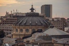 Opinión del centro de Bucarest Imagenes de archivo