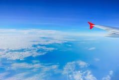Opinión del cielo del aeroplano Fotos de archivo libres de regalías