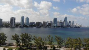 Opinión del cielo de Miami la Florida foto de archivo libre de regalías