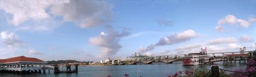 Opinión del cielo de Sentosa - panorama Imagen de archivo libre de regalías