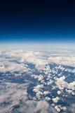 Opinión del cielo del aeroplano Imagen de archivo libre de regalías