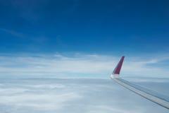 Opinión del cielo del aeroplano Imagen de archivo