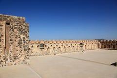 Opinión del cielo del castillo de Jabreen Fotografía de archivo