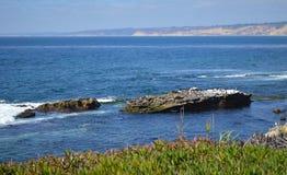 Opinión del cielo del mar en San Diego California Foto de archivo libre de regalías