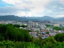Opinión del condado de Yunhe Foto de archivo