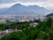 Opinión del condado de Yunhe Fotografía de archivo