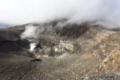 Opinión del cráter del volcán de Lokon Imagen de archivo