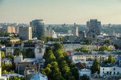 Opinión del día de la ciudad de Kiev, panorama Kiev, Ucrania Foto de archivo