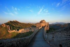 Opinión del día de la Gran Muralla China Foto de archivo libre de regalías