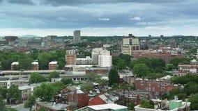 Opinión del día del lapso de tiempo del ` s South End de Boston almacen de video