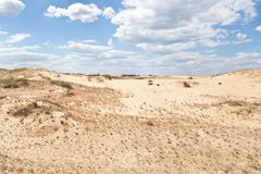 Opinión del desierto fotos de archivo