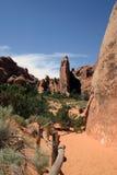 Opinión del desierto - arcos Imagenes de archivo
