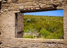 Opinión del desierto de Abandonded Imagen de archivo libre de regalías