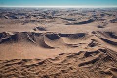 Opinión del desierto del parque nacional de Namib-Naukluft del aire Foto de archivo