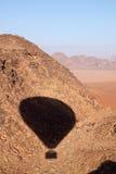 Opinión del desierto del ron del lecho de un río seco Imagen de archivo libre de regalías