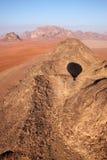Opinión del desierto del ron del lecho de un río seco Imágenes de archivo libres de regalías