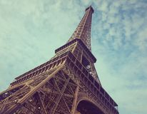 Opinión del detalle de Eiffel del viaje del La imagenes de archivo