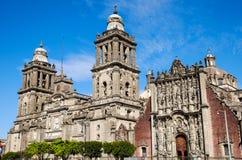 Opinión del detalle de la catedral Metropolitana en Ciudad de México imagenes de archivo