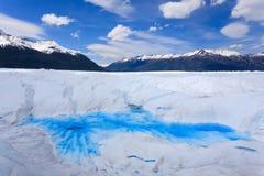 Opinión del detalle de las formaciones de hielo del glaciar de Perito Moreno fotografía de archivo