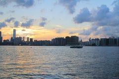 Opinión del embarcadero de North Point el lado de Kowloon Imagenes de archivo