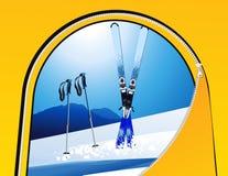 Opinión del esquí de la tienda Imagenes de archivo
