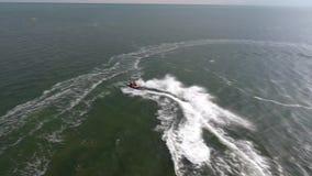 Opinión del esquí del jet del quadrupter el Mar Negro Ucrania Skadovsk almacen de metraje de vídeo