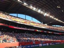 Opinión del estadio de Winnipeg Fotografía de archivo libre de regalías