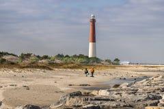 Opinión del faro de Barnegat del Atlántico que mira adentro foto de archivo libre de regalías