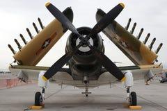 Opinión del frontal del A-1 Skyraider Imágenes de archivo libres de regalías