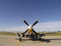 Opinión del frontal del mustango P-51 Imagen de archivo libre de regalías