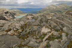 Opinión del glaciar de Folgefonna Imagen de archivo