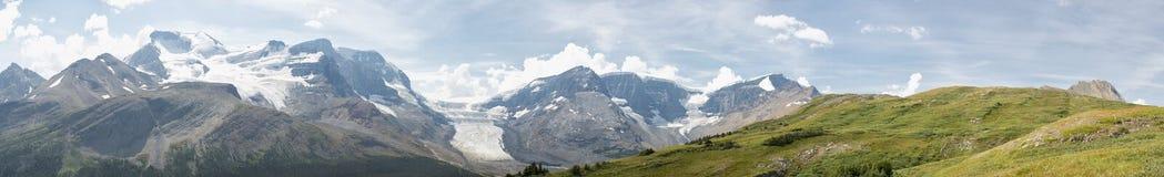 Opinión del glaciar del parque de Icefield imagenes de archivo