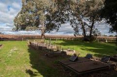 Opinión del Graveside - Barossa Valley Australia Imagen de archivo