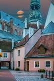 opinión del Hada-cuento de la yarda medieval en Riga vieja Fotografía de archivo libre de regalías