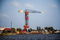 Opinión del horizonte de Amsterdam del canal de Mar del Norte Fotografía de archivo libre de regalías
