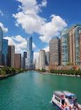 Opinión del horizonte de Chicago fotos de archivo libres de regalías