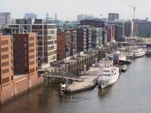Opinión del horizonte de Hamburgo imagenes de archivo