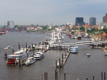 Opinión del horizonte de Hamburgo imágenes de archivo libres de regalías