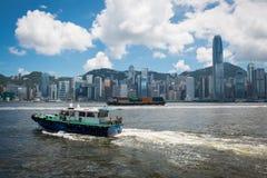 Opinión del horizonte de Hong Kong de Kowloon Imagen de archivo